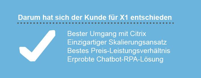 Kundenservice Fahrradhändler RPA Servicetrace Gründe für X1